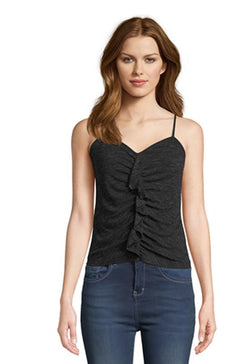 Jack - Pucker Up Black Spaghetti Strap Sweetheart Top