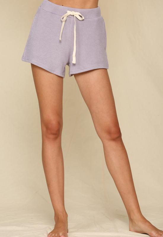 Kixters - Lavender Terry Knit Pocket Shorts