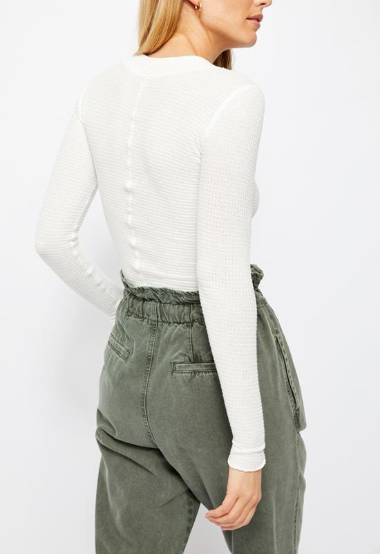 Free People - One of the Girls Henley Ivory