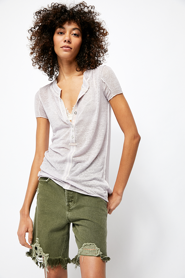 Free People - Light Grey Kia Tee