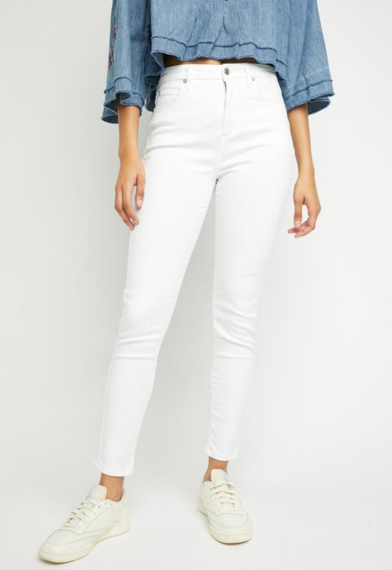 Free People - Montana Skinny Jean Lilly White