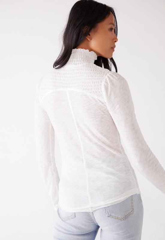 Free People - Caroline 3/4 Sleeve White Top