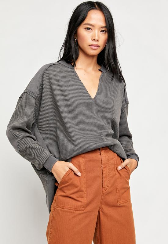 Free People - Owen Thermal Blueberry