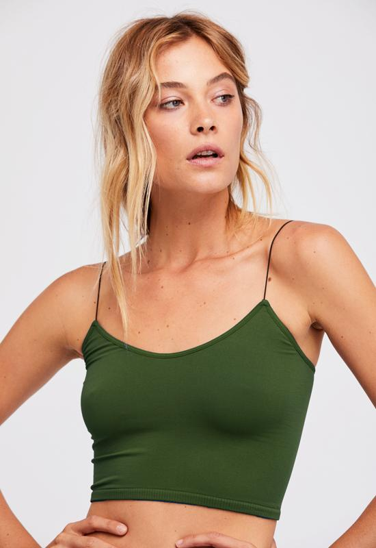 Free People - Deep Army Skinny Strap Brami