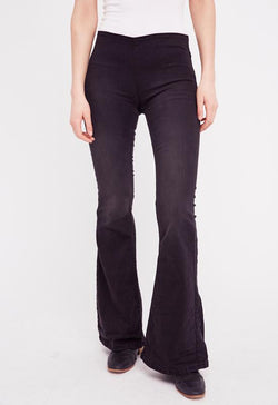 Free People - Black Penny Flare Pull-On Pants