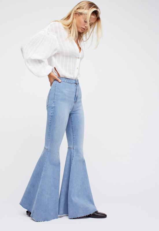 Free People - Flair Float On Jeans Bersmondy Blue