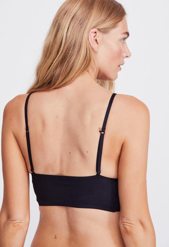 Free People - Longline Bralette Black