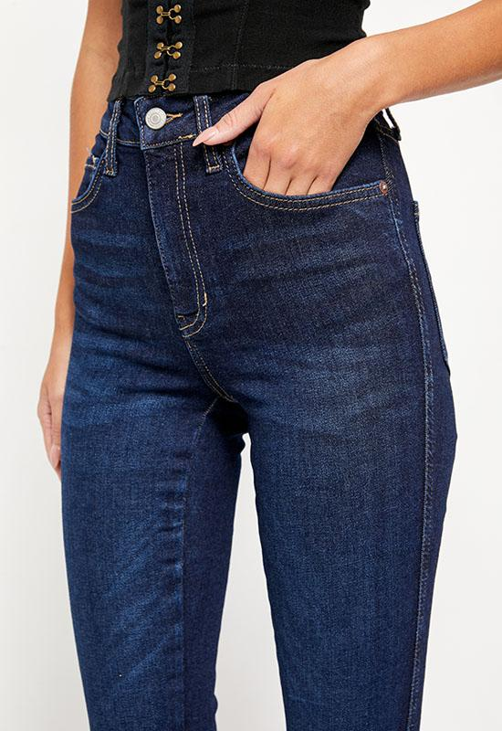 Free People - Dark Blue Rain High Waist Jeggings