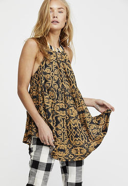 Free People - Mimi Black Multi Print Tunic