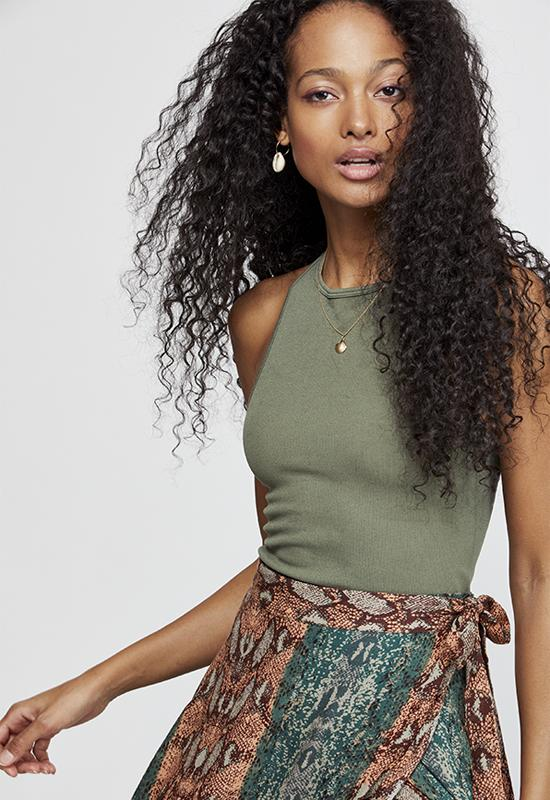 Free People - Army Hayley Racerback Top