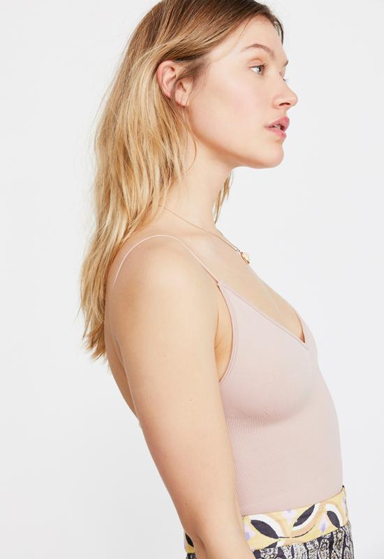 Free People - Ribbed V Neck Brami Ballet