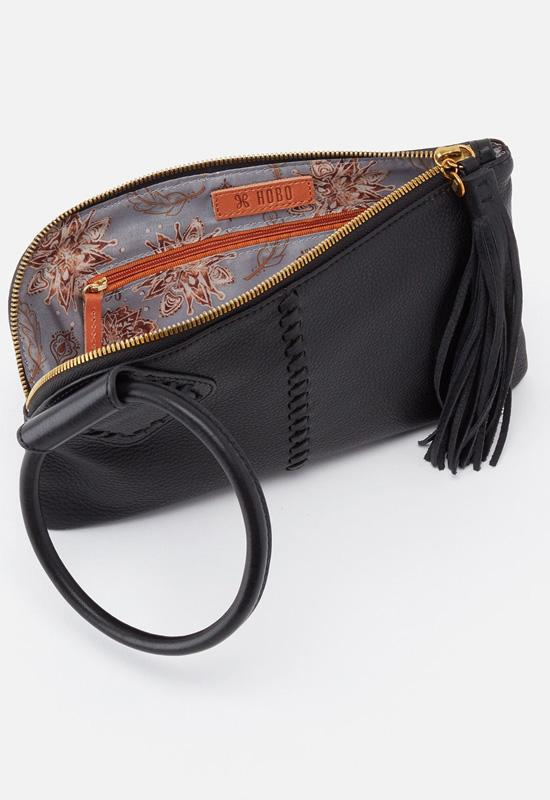 Hobo - Sable Wristlet Black Leather