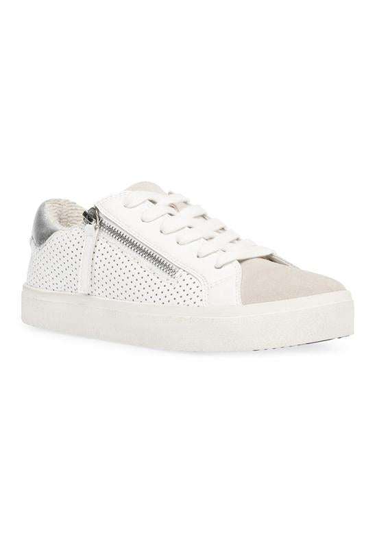 Steve Madden Parka - White Leather Side Zip Lace Sneaker
