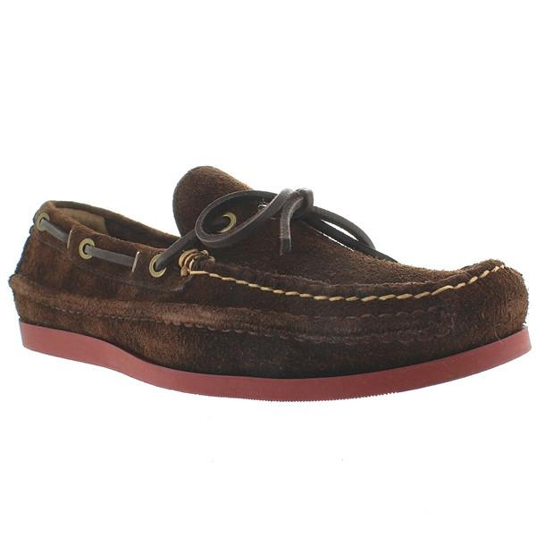 Frye Boot Mason Tie - Dark Brown Suede Boat Moc Loafer