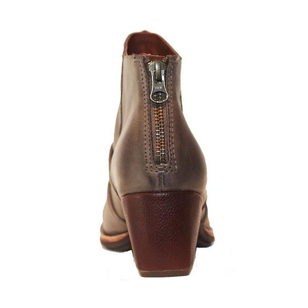 Kork-Ease Kissel - Taupe Leather Back Zip Bootie