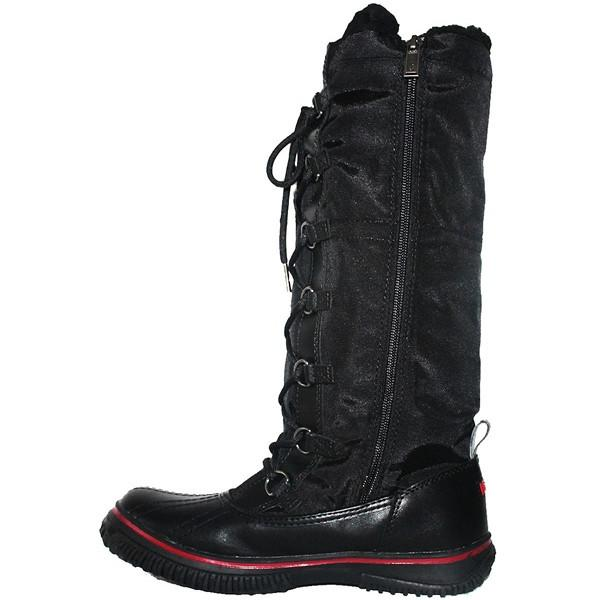Pajar Grip Zip - Waterproof Black Leather/Nylon Tall Pile-Lined Winter Boot