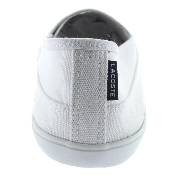 Lacoste Marice LCR - White Canvas Slip-On Sneaker