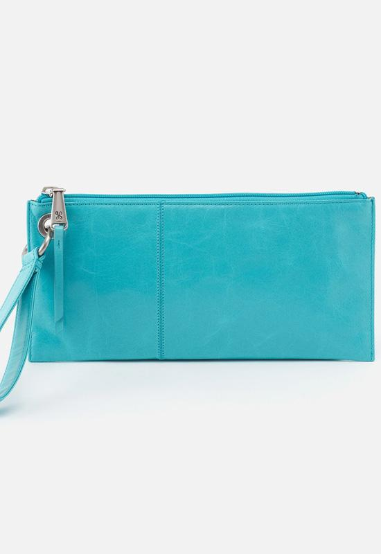 Hobo - Vida Wristlet Aqua Leather