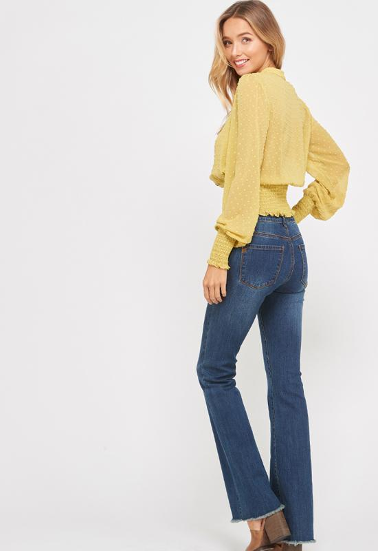Kixters - Lemon Yellow Woven Top