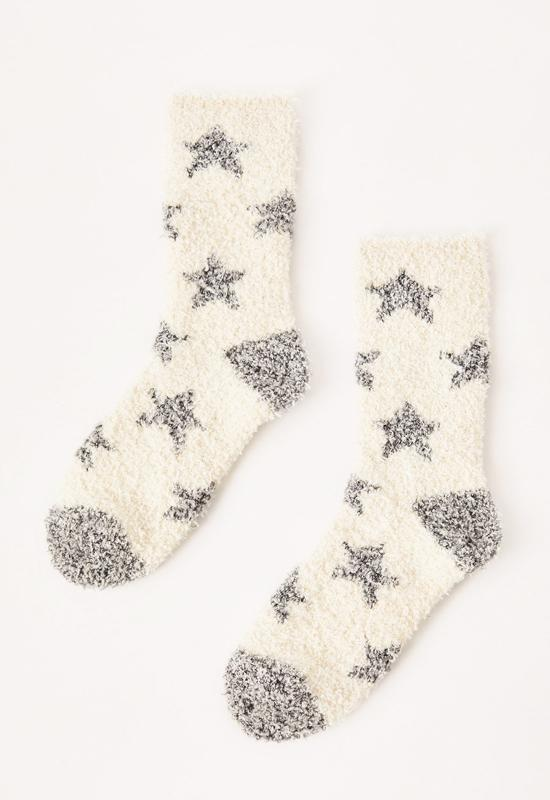 Z Supply - Star Plush Socks Bone