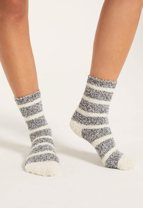 Z Supply - Stripe Plush Socks Black