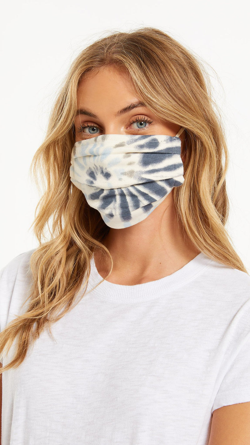 Z Supply - Tie-Dye 4-Pack Face Masks - Dusty Navy
