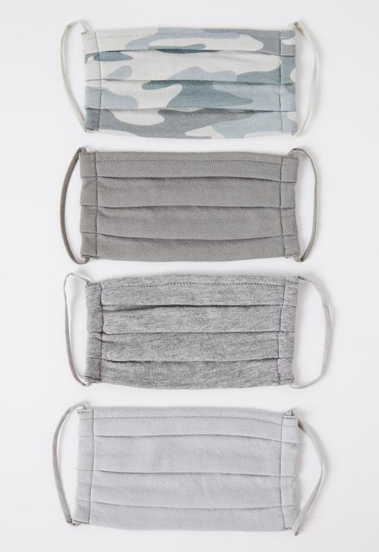 Z Supply - Camo 4-Pack Face Masks -Dusty Sage