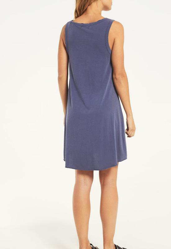 Z Supply - The Jet Set Grey Avery Jersey Mini Dress