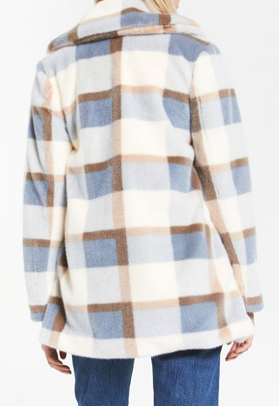 Z Supply - Carmen Plaid Coat Glacier