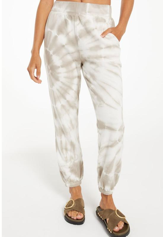 Z Supply - Emery Spiral Tie Dye Jogger Taupe