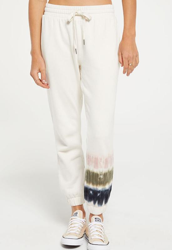 Z Supply - Selene Stripe Tie Dye Jogger - Bone