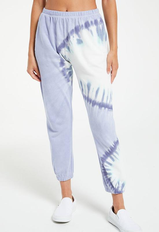Z Supply - Sunburst Tie Dye Joggers Ice Blue