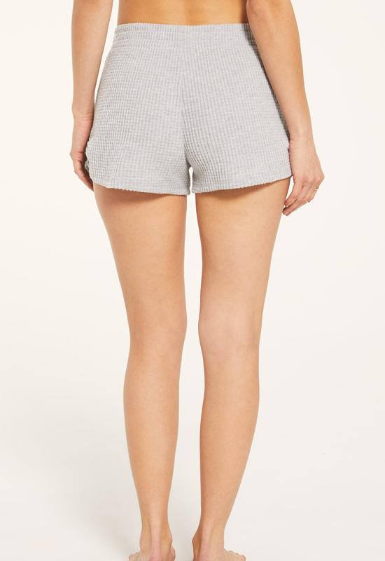 Z Supply - Heather Grey Starry Waffle Shorts