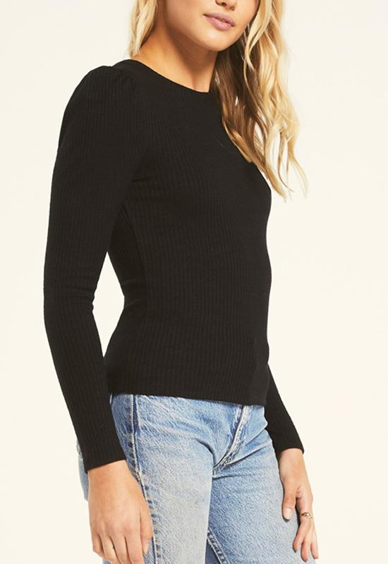 Z Supply - Kaiya Rib long Sleeve Black
