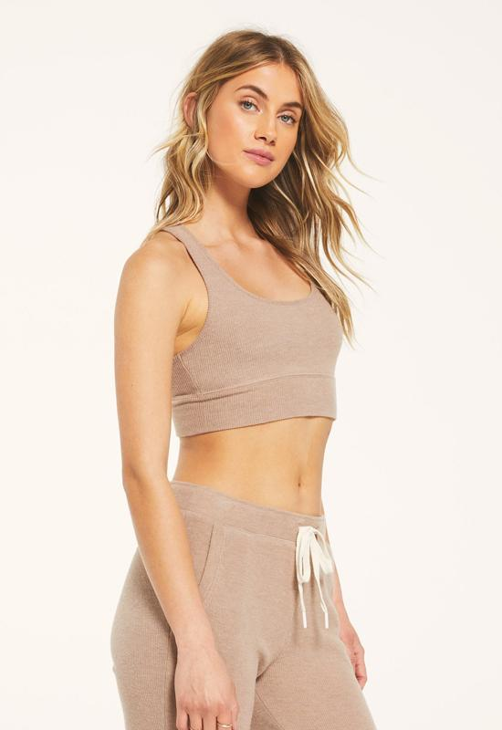 Z Supply - Light Cocoa Rib Tank Bralette