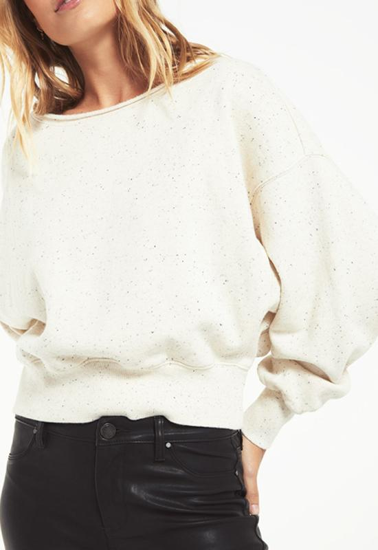 Z Supply - Allie Speckled Sweatshirt Natural