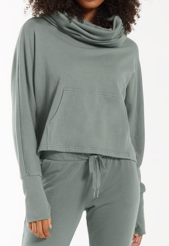 Z Supply - Easy Cowl Neck Top Ash Green