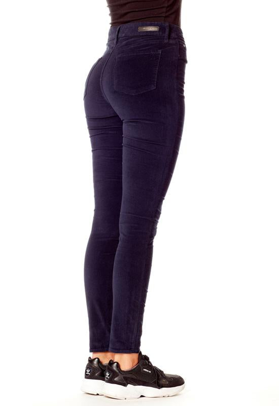 Articles Of Society - Hilary High Rise Skinny McNeely Blue Velvet Jeans