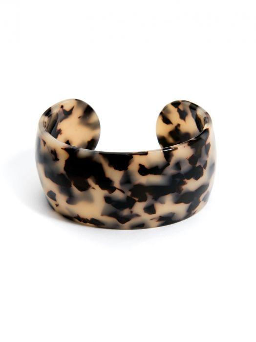 Whisper - Resin Cuff Black Tan