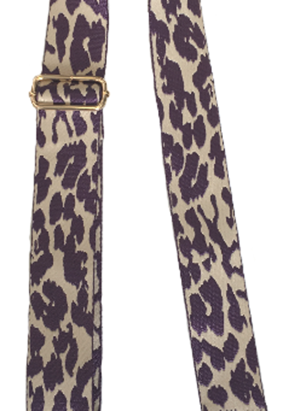 Ahdorned - Leopard Animal Print Strap Purple Cream