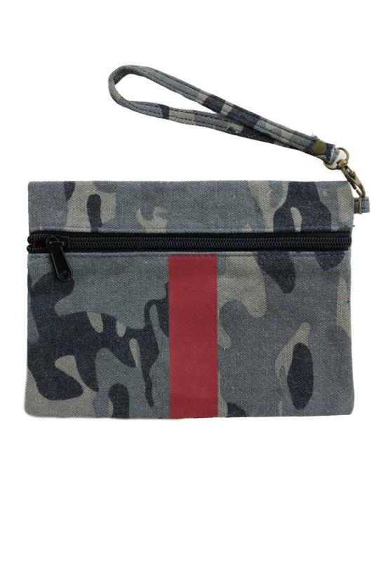 Camo Canvas Clutch Wristlet