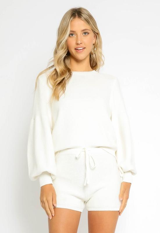 Long Sleeve Sweater - Ivory