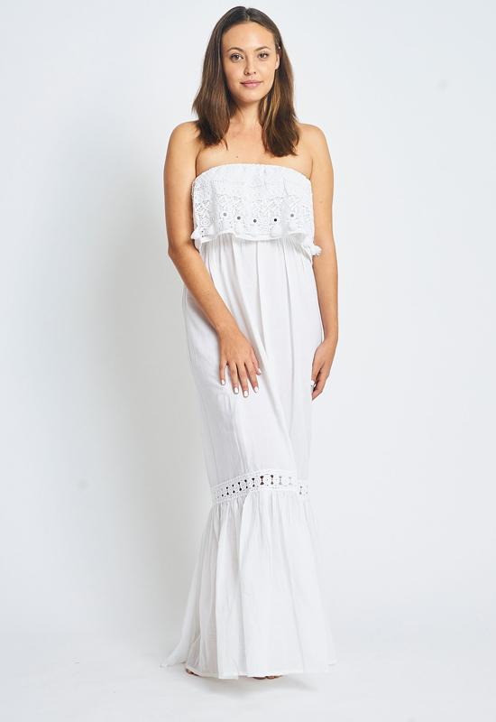 Kixters - Lina White Maxi Dress