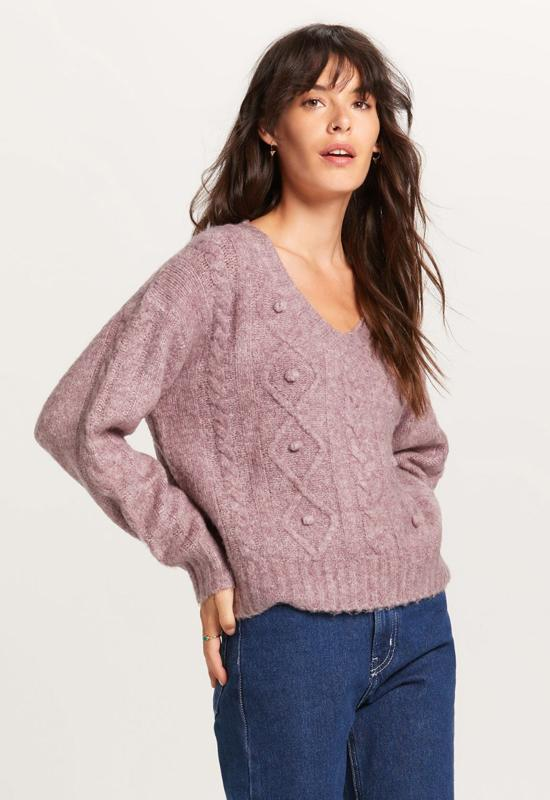 Knit Sweater - Purple