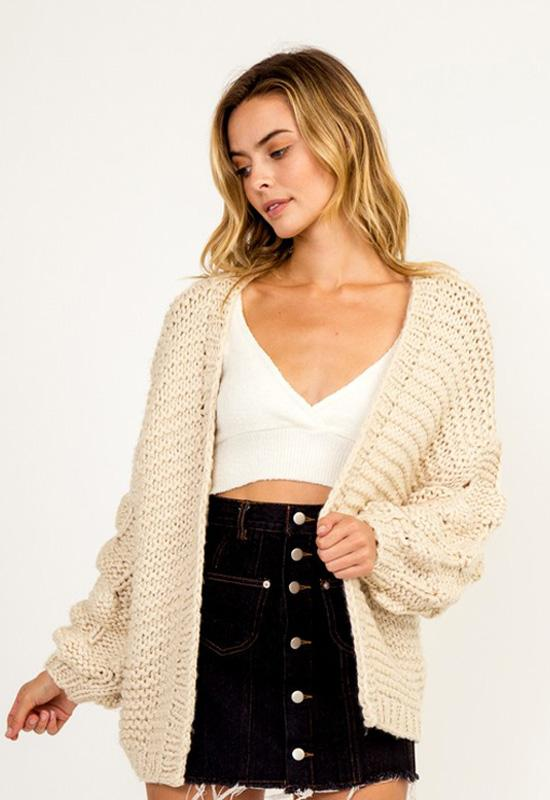 Kixters - Natural Long Sleeve Cardigan