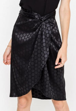 Lush - Black Twisted Wrap Skirt