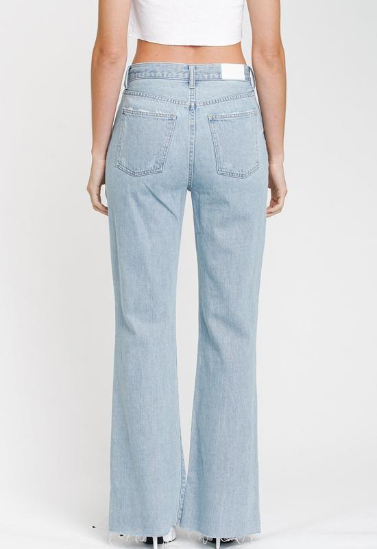 Pistola - Light Blue Denim Steveie High Waist Wide Leg Jeans
