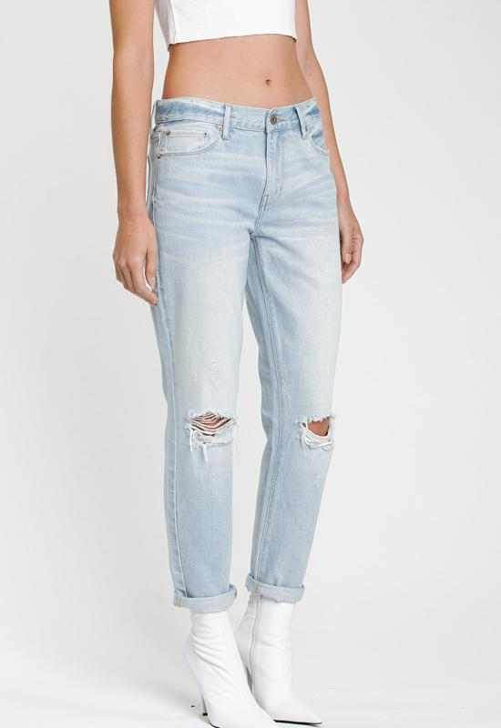 Pistola - Light Blue Denim Remy Low Rise Boyfriend Jeans