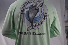 T-shirt-Humpback cast nets, Tech, quick dry, breathable