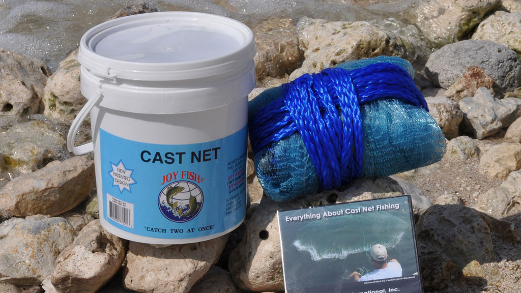 "Cast net-Joy fish 3/8"" bait net, 1.25 lb per ft weight"